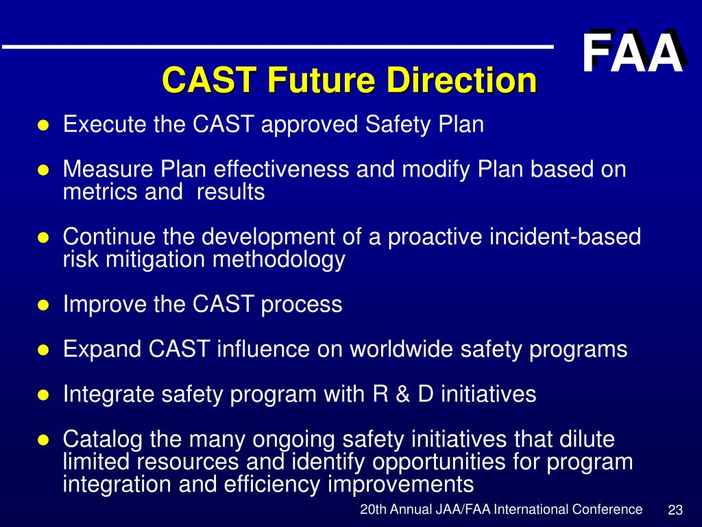 PPT - Safety Initiatives Commercial Aviation Safety Team (CAST