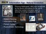 information age natural evolution