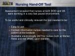 nursing hand off tool