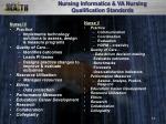 nursing informatics va nursing qualification standards
