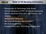 state of va nursing informatics
