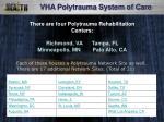 there are four polytrauma rehabilitation centers richmond va tampa fl minneapolis mn palo alto ca