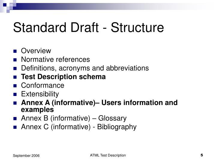 Standard Draft - Structure