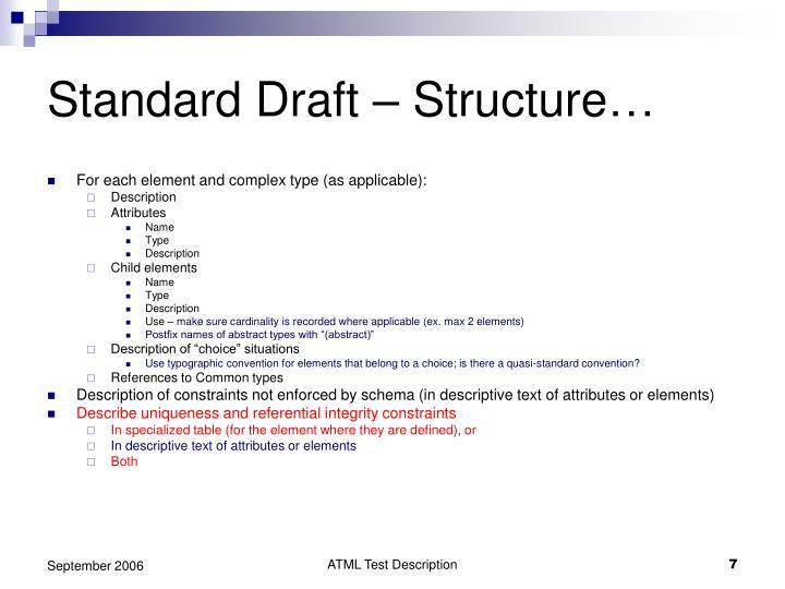 Standard Draft – Structure…