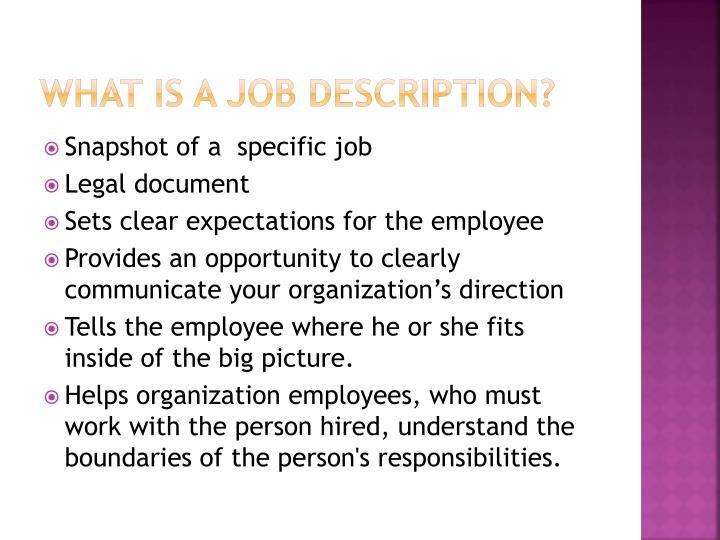 What is a job description?