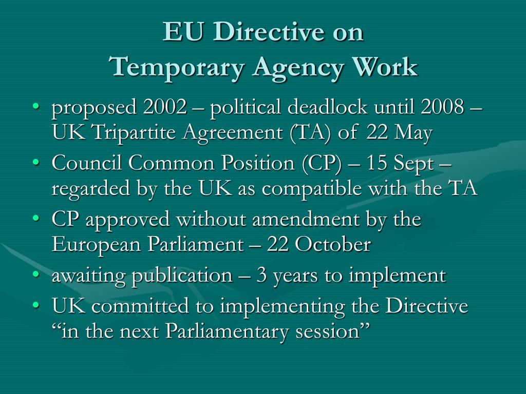EU Directive on