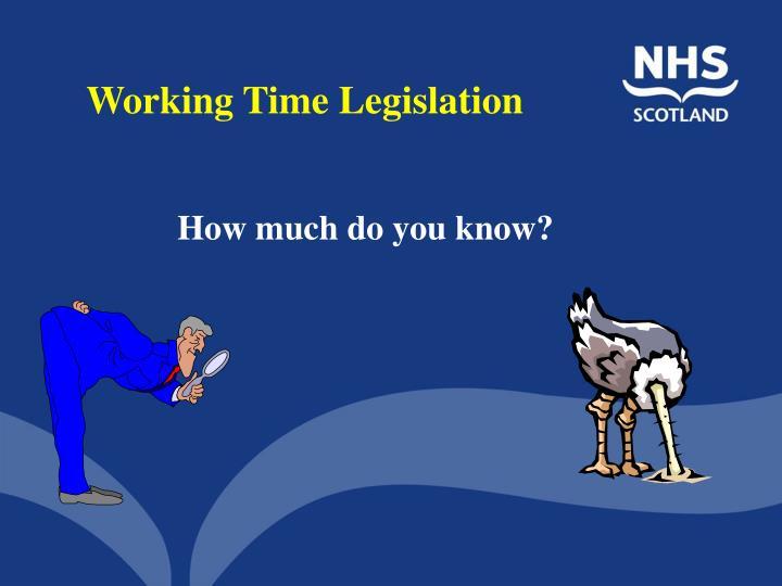 Working Time Legislation