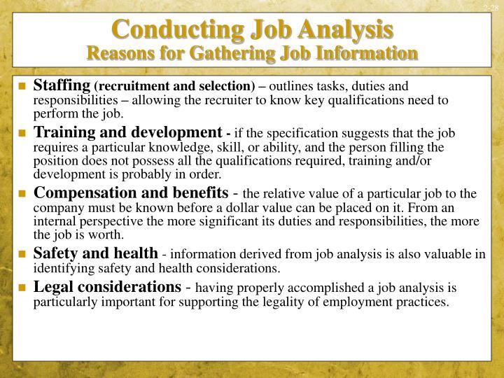 Conducting Job Analysis