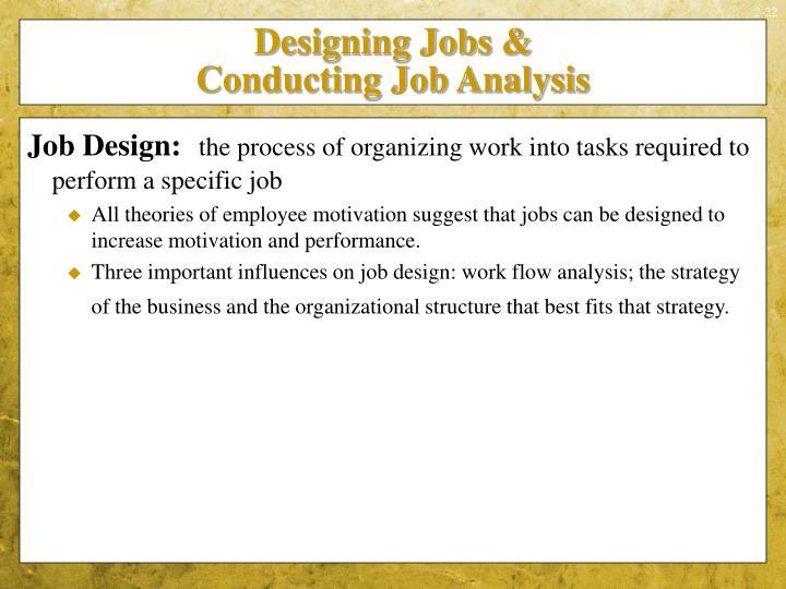 Designing Jobs &