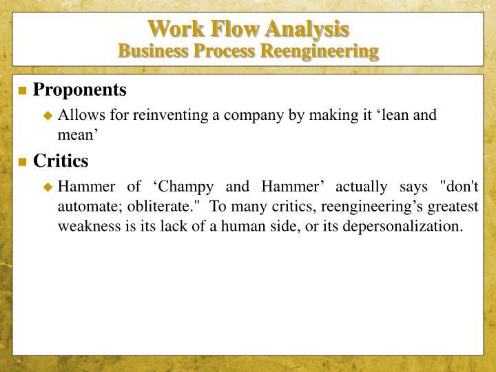 Work Flow Analysis