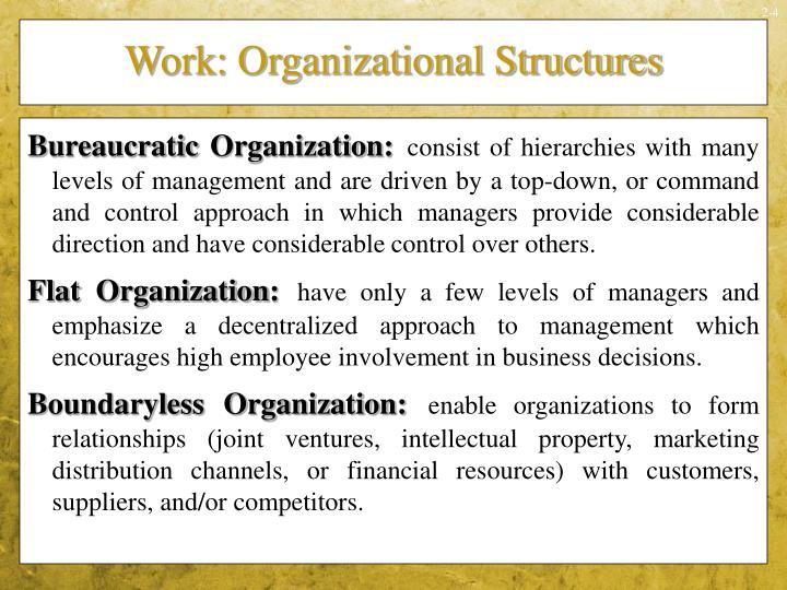 Work: Organizational Structures