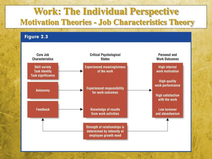 Work: The Individual Perspective