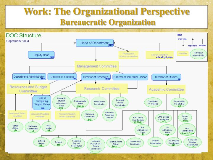 Work: The Organizational Perspective