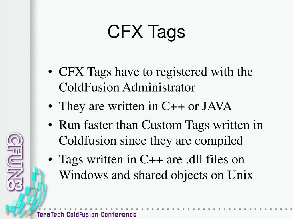 CFX Tags