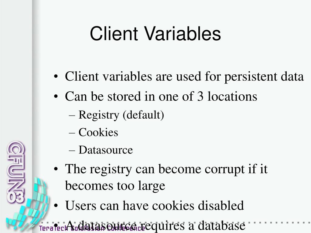 Client Variables