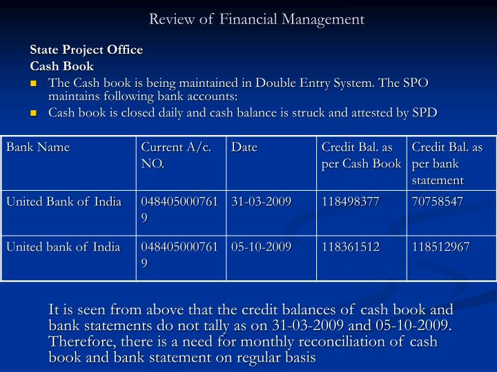 Review of financial management