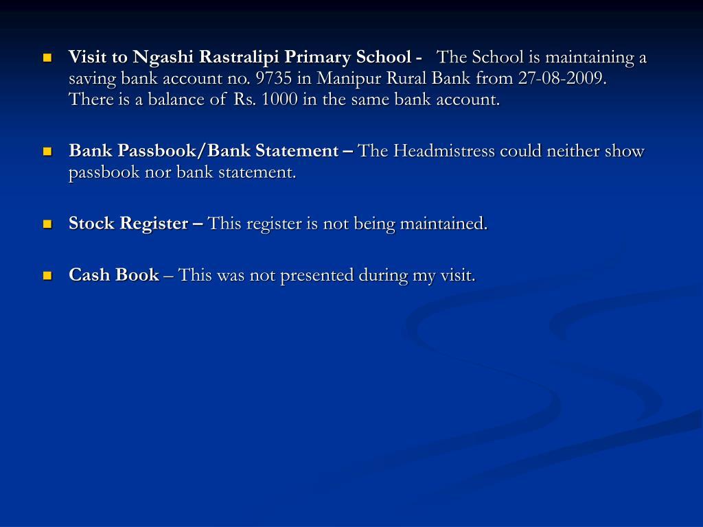 Visit to Ngashi Rastralipi Primary School -