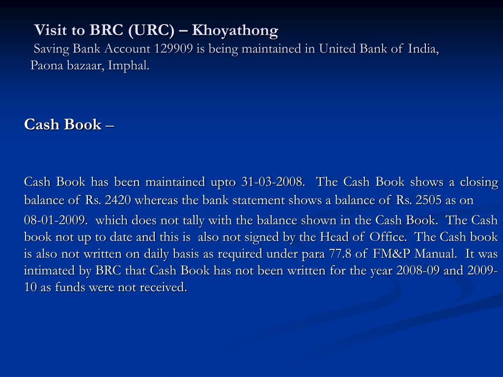 Visit to BRC (URC) – Khoyathong