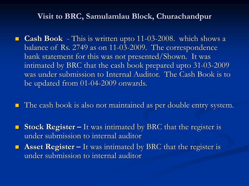 Visit to BRC, Samulamlau Block, Churachandpur