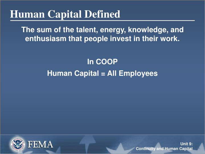Human capital defined