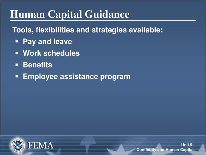 Human Capital Guidance