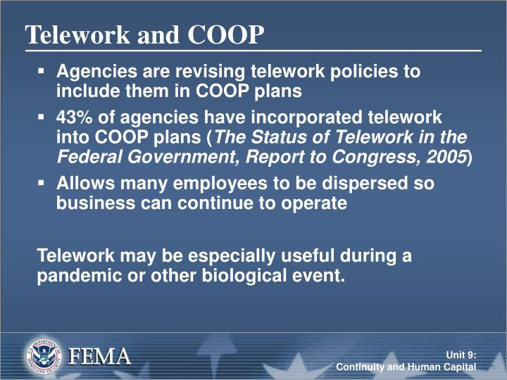 Telework and COOP
