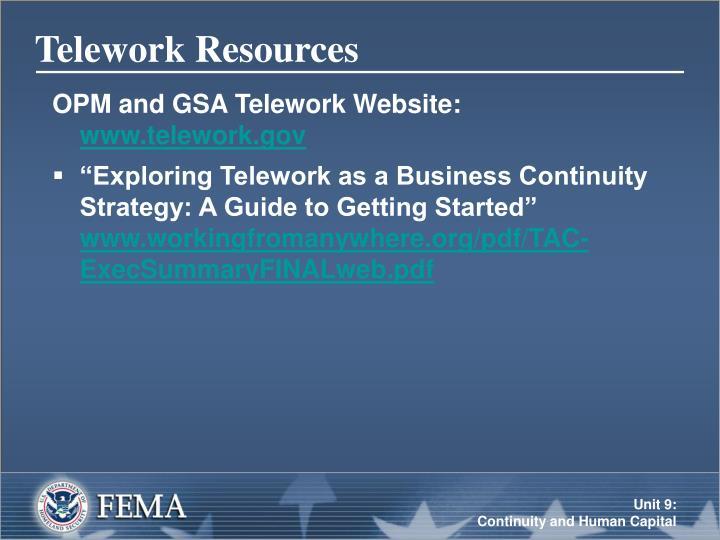 Telework Resources