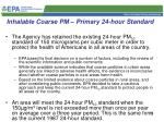 inhalable coarse pm primary 24 hour standard