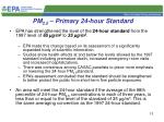 pm 2 5 primary 24 hour standard