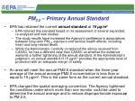 pm 2 5 primary annual standard