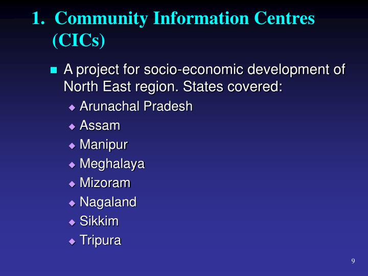 1.  Community Information Centres