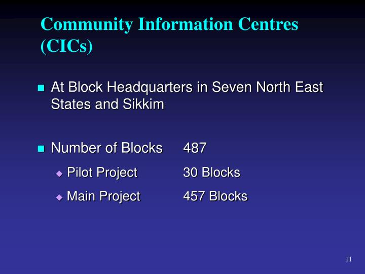 Community Information Centres