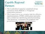 capable regional partners