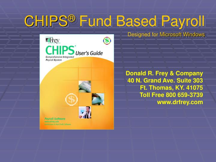 chips fund based payroll designed for microsoft windows n.