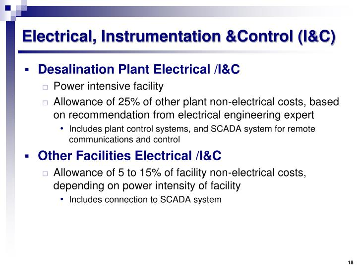 Electrical, Instrumentation &Control (I&C)