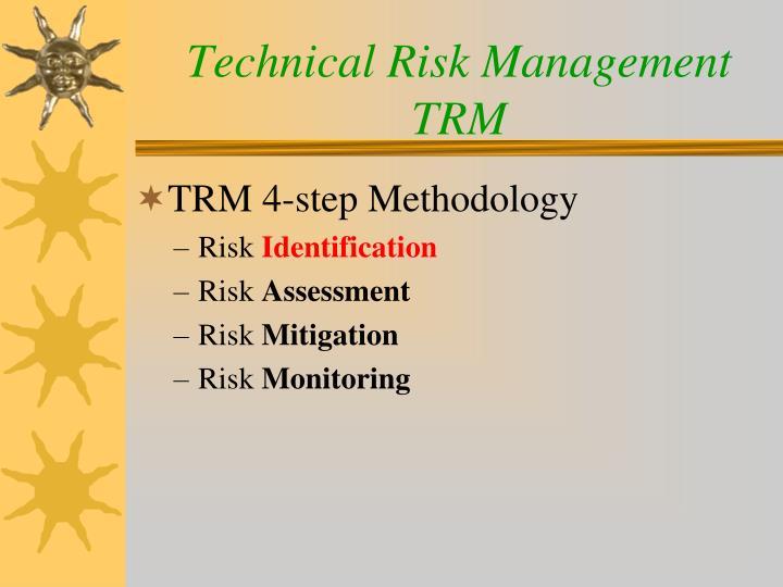 Technical risk management trm