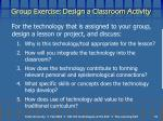 group exercise design a classroom activity