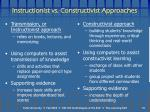 instructionist vs constructivist approaches