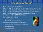 who is seymour papert
