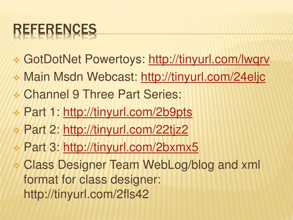 PPT - Visual studio 05 Class designer PowerPoint ...