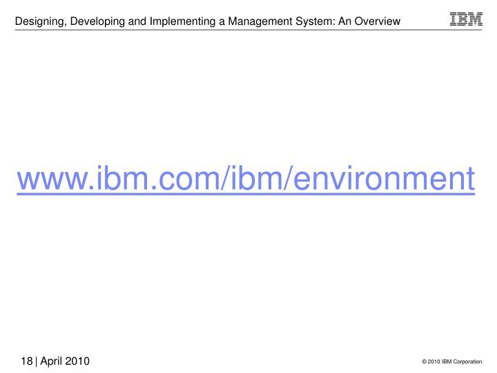 www.ibm.com/ibm/environment