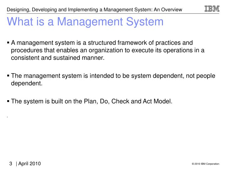 What is a management system