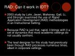 rad can it work in idt