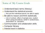 some of my course goals