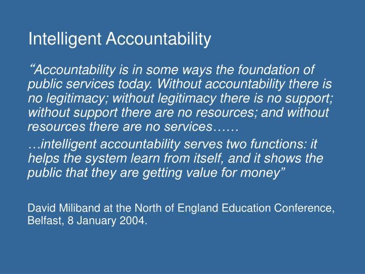 Intelligent accountability