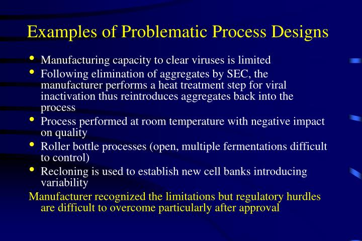 Examples of Problematic Process Designs