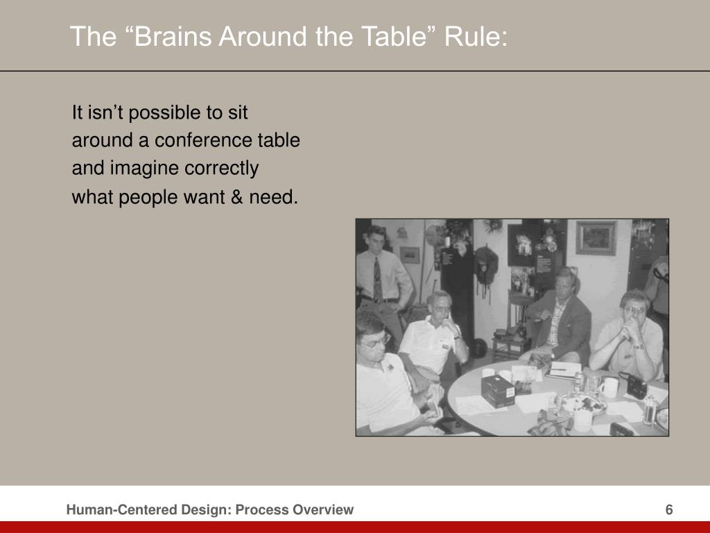 """The """"Brains Around the Table"""" Rule:"""