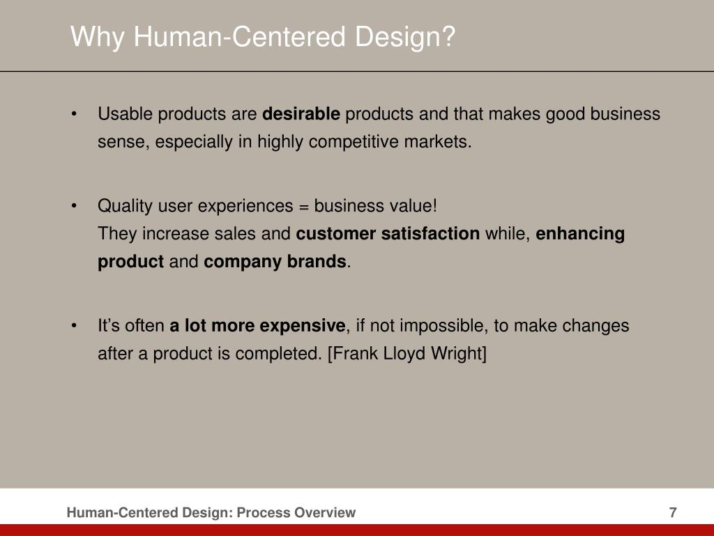 Why Human-Centered Design?