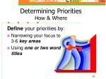 determining priorities how where28