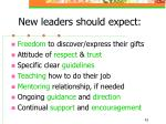 new leaders should expect